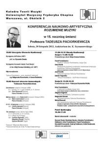 Plakat konferencji Rozumienie Muzyki