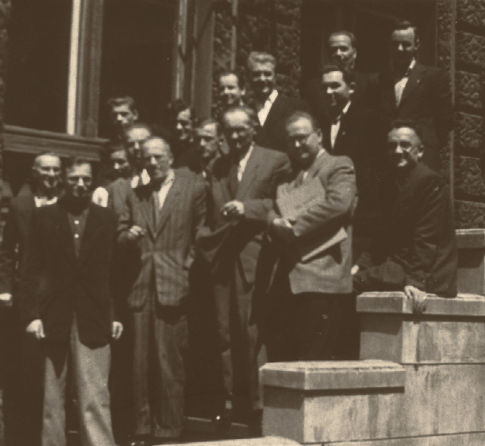 Professors and students of State Higher Music School in Łódź