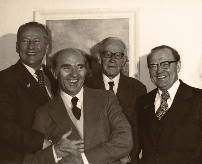 Benedykt Konowalski, Tadeusz W. Maklakiewicz, Kazimierz Sikorski and Tadeusz Paciorkiewicz
