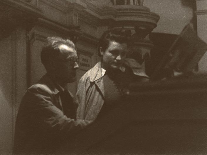 Tadeusz i Zofia Paciorkiewicz w kościele Św. Marcina