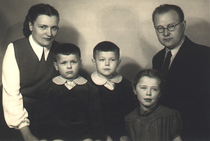Tadeusz and Zofia with their children, 1951