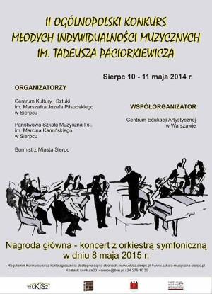 Plakat konkursy Młode Indywidualności Muzyczne